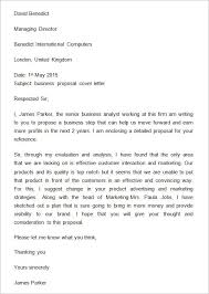Letter Proposal Format Adorable Sample Business Proposal Cover Letter Business In 48 Pinterest