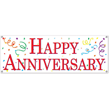 happy anniversary banners amazon com happy anniversary sign banner party accessory 1 count