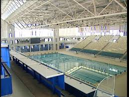 indoor olympic pool. SD Rights Managed Stock Footage # 151-329-131 Indoor Olympic Pool I