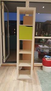 ikea kallax storage shelving unit 5x1 cubes tall white