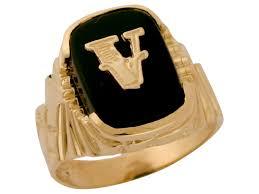 Gold Initial Ring Design Details About 10k Or 14k Solid Gold Nugget Design Onyx Letter V Mens Initial Statement Ring
