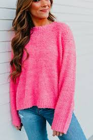 Fuzzy Light Pink Sweater The Fuzzy Sweater In Barbie Pink