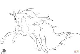 Disegno Di Unicorno Che Corre Da Colorare Disegni Da Colorare E Con