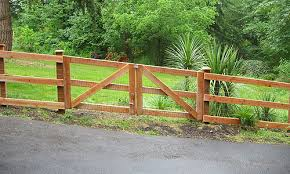wooden horse fences with wire Google Search Fence Ideas