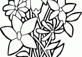 Disegno Di Fiori Colorati A Colori Per Bambini Con Fiore Da