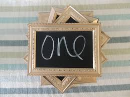 gold silver or copper distressed chalkboard frames table numbers party decor wedding decor