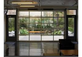 with modern style commercial glass garage commercial glass garage door