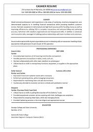 Resume For Cashier Job Example Examples Of Resumes