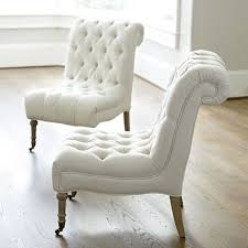 white tufted chair. Furniture : Simple White Tufted Modern Chair Style Design