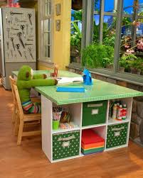 storage bins with wheels kids study area or activity desk made from modular storage units storage
