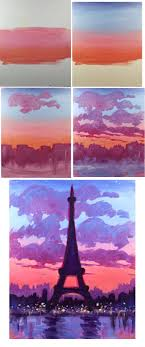 Easy Painting Best 20 Paris Painting Ideas On Pinterest Eiffel Tower Painting