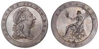 1 Penny 1797 Kingdom Of Great Britain 1707 1801 Copper