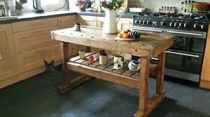 rustic kitchen island butchers block antique workbench prep table work bench nz