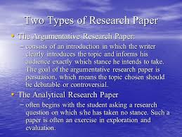 the research paper dr sean homer what is a research paper a  two types of research paper the argumentative research paper the argumentative research paper