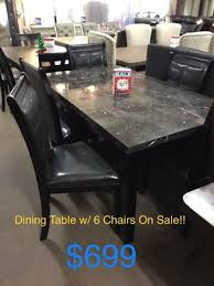 dining table w 6 dining chairs on for in tulare
