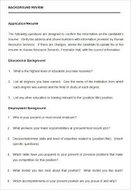 Sample Questionare 9 Sample Hr Questionnaire Templates Doc Pdf Free