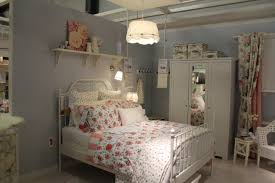 Ikea Bedroom with cool Lamps