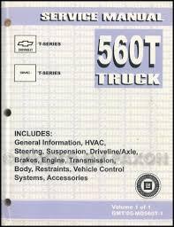 gmc t6500 service manuals shop owner maintenance and repair 2004 t series tilt cab medium duty truck repair manual original
