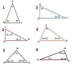 Álgebra triángulos y ecuaciones