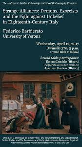 uc berkeley events calendar strange alliances demons exorcists and the fight against unbelief in eighteenth century italy