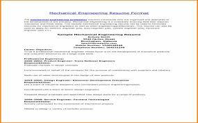 Sample Resume For Fresh Graduate Mechanical Engineer   Casadozander