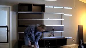 ikea besta framsta wall mount entertainment center assembly part 4 you