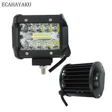 <b>ECAHAYAKU 1x</b> 4 Inch 60W <b>LED</b> Work Light Bar Off Road ...