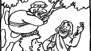 Zacchaeus Coloring Page Pdf Tax Collector Sycamore Tree And Calms