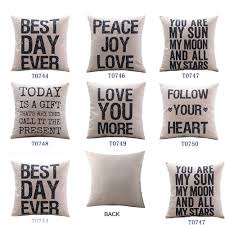 Decorative Pillow Set Throw Pillows With Letters Images
