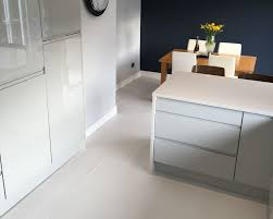 Kitchen Diner Flooring Emmas Stylish Kitchen Diner White Matt Floor Tiles Walls And