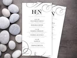 Wedding Schedule Elegant Wedding Itineraries Wedding Schedule Cards Welcome Cards