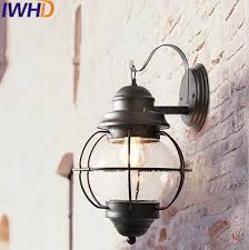 Outdoor stairway lighting Dekor Iwhd Glass Led Wall Light Vintage Industrial Lighting Wall Lamp Stairway Lighting Loft Retro Outdoor Lights Iron Arm Sconce in Led Indoor Wall Lamps From Aliexpresscom Iwhd Glass Led Wall Light Vintage Industrial Lighting Wall Lamp
