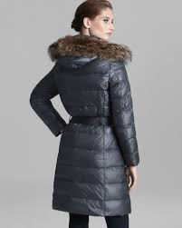 clearance moncler fur trimmed hooded coat 8bc07 cc9c1