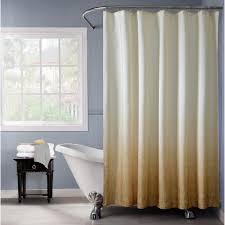 gold monochromatic fabric shower curtain