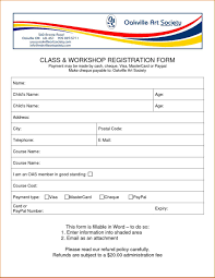 Enrolment Form Template Enrollment Form Template Word Waiter Resume Examples For Letters 11