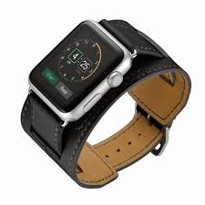 genuine leather watch strap band for hermes apple watch 42mm black ksa souq