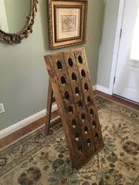 French Riddling Rack, Wine Rack, Riddling Rack, 21 Bottle Riddling Rack,  A-frame French riddling rack