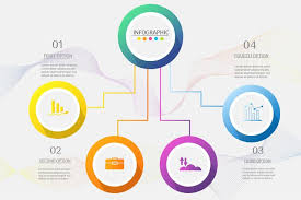 Infographic Chart Design Business Template 4 Options Or Steps Infographic