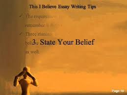 This I Believe Essay Writing Tips Youtube