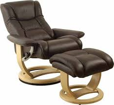 leather swivel recliner chair and stool 54 with leather swivel recliner chair and stool