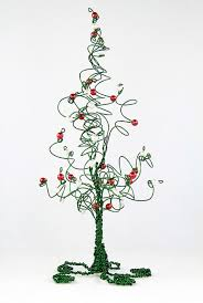 christmas tree evergreen wire tree wedding cake topper centerpiece or home  decor sculpture - Wire Christmas