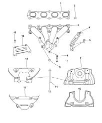 2007 dodge caliber exhaust manifold turbocharger ponents thumbnail 4