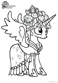 My Little Pony Coloring Pages Twilight Sparkle