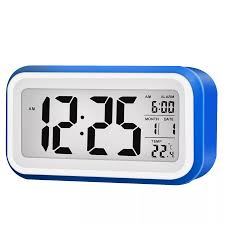 Digital Time Clock For Lighting Digital Lcd Display Alarm Clock With 12 24 Hour Switchable Time Date Week Temperature Night Lights