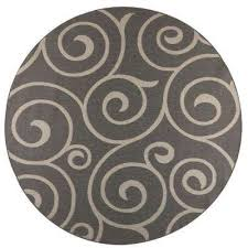 whirl grey champagne 9 ft x 9 ft round indoor outdoor area