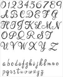 Font Size Chart Pdf Handwriting Alphabet Cross Stitch Pattern Pdf Written Font