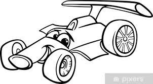 Fotobehang Raceauto Bolide Kleurplaat Pixers We Leven Om Te