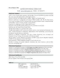 Sap Sd Resumes Consultant Resume Samples Thekindlecrew Com