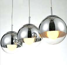 globe lighting fixtures modern re mirror glass ball pendant lights silver lampshade globe lamp lighting fixtures for kitchen island office from