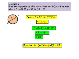 6 example 2 state the equations of the following circles centre 2 3 radius 10 x 2 2 y 3 2 100 centre 0 6 radius 2 3 r 2 2 3